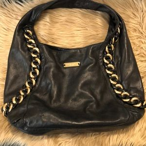 EUC Michael Kors Hobo Blk Leather Purse! (A510)